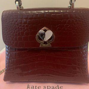 Kate Spade Romy Croc-embossed mini flap top handle